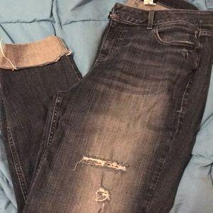Lane Bryant ripped blue jeans SZ 14 like new